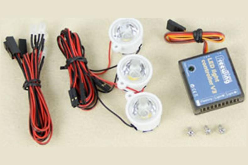 Freewing 90mm Yak-130 Light Controller and LED Light Set on