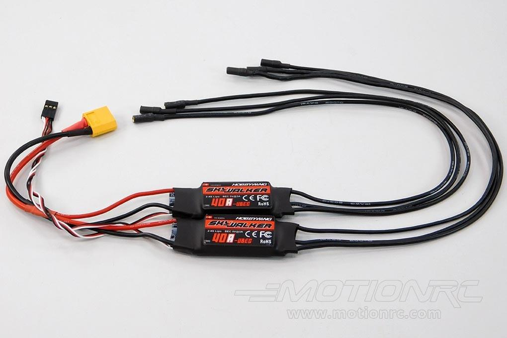 Freewing Dual 40A Brushless ESCs with XT-60 Connector 004D002002
