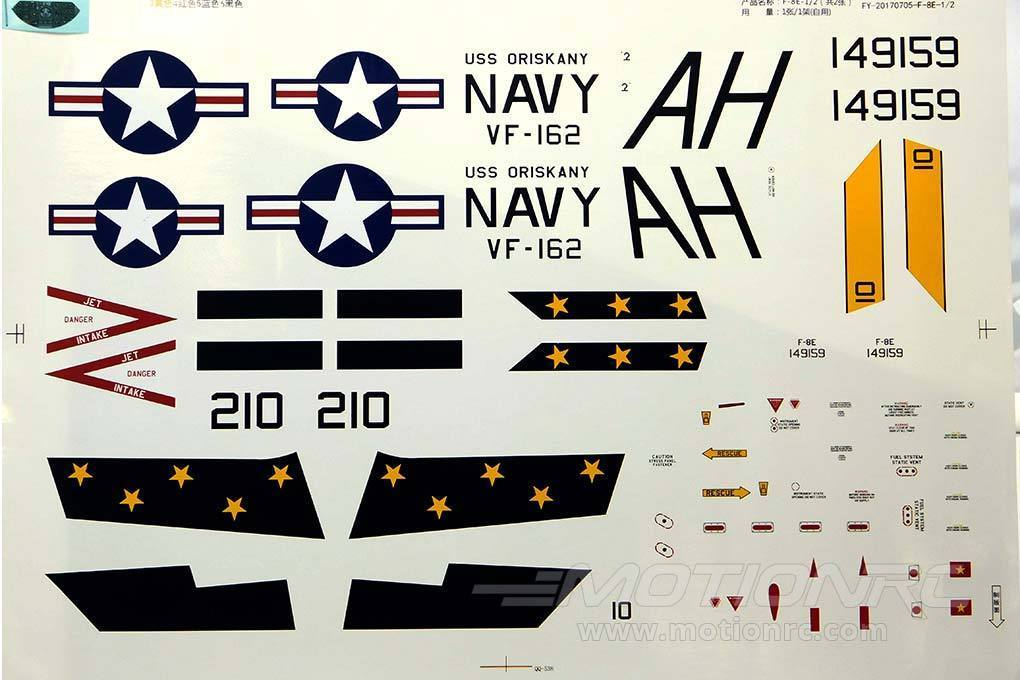 Freewing F-8 Crusader Decal Sheet FJ1081107