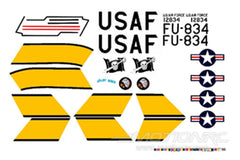 Freewing F-86 Decal Sheet - Jolly Roger FJ1012107