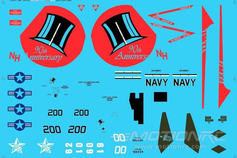"Freewing F/A-18 64MM ""Tophatters"" Decal Sheet FJ1072107"