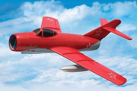Freewing Mig-15 Red 64mm EDF Jet - PNP FJ10211P