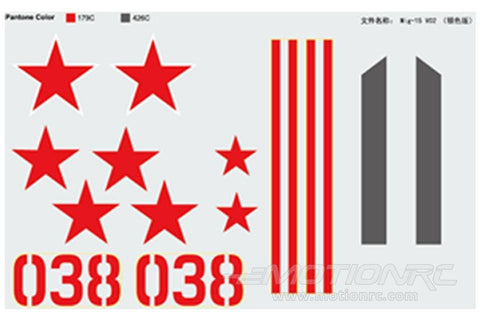 Freewing Mig 15 Silver Decal Sheet FJ1022107