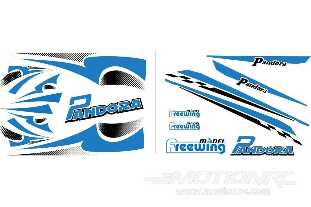Freewing Pandora Decals - Blue – Motion RC
