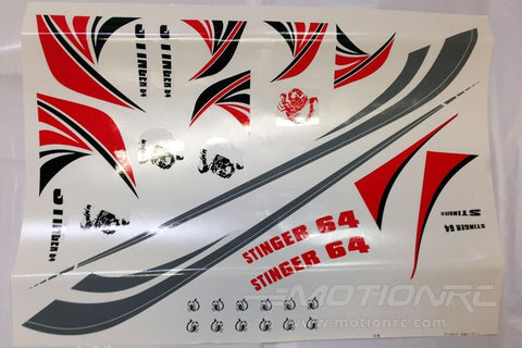 Freewing Stinger 64 Decal Set - Red FJ1041107R