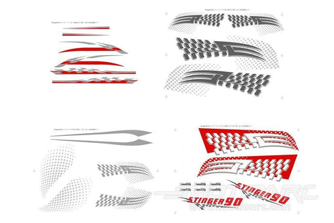 Freewing Stinger 90 Decal Sheet FJ3051107