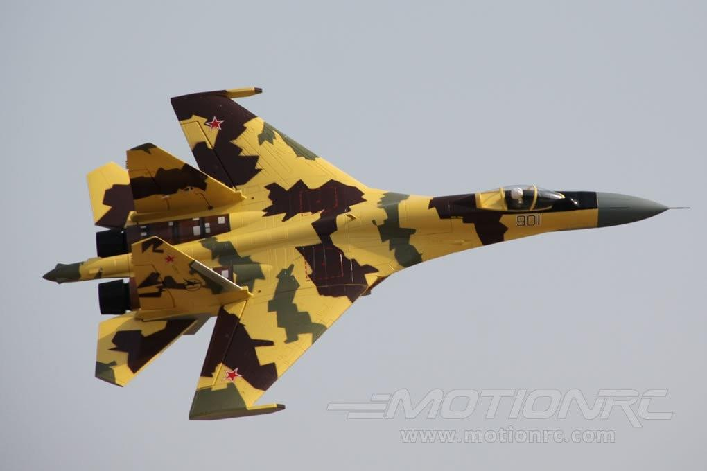 Freewing SU-35 Desert Camo Twin 70mm EDF Vectored Thrust Jet - PNP FJ30321P