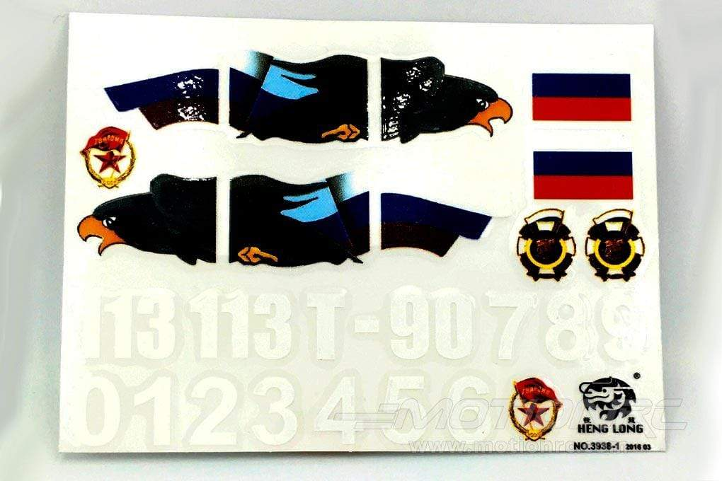 Heng Long 1/16 Scale Russian T-90 Decal Set HLG3938-102