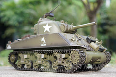 Heng Long USA M4A3 Sherman Upgrade Edition 1/16 Scale Battle Tank - RTR HLG3898-001