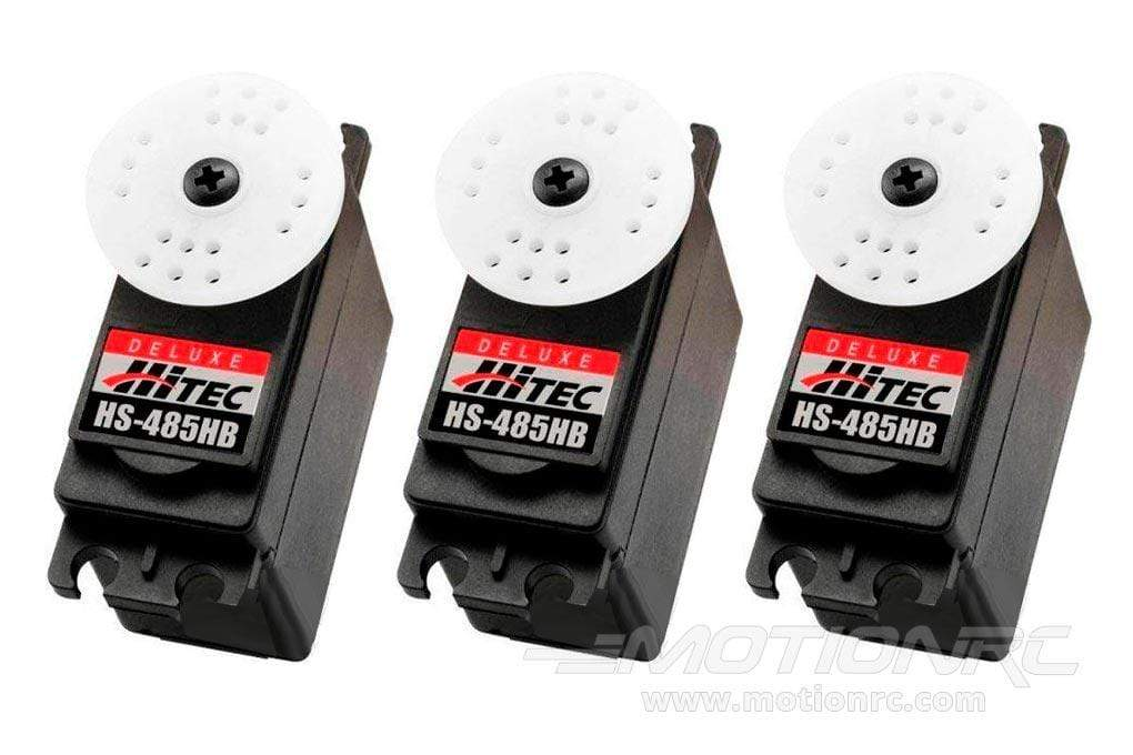 Hitec HS-485HB Deluxe Ball Bearing Karbonite Gear Standard Servo Airplane Multi-Pack (3 Servos) HRC6005-021
