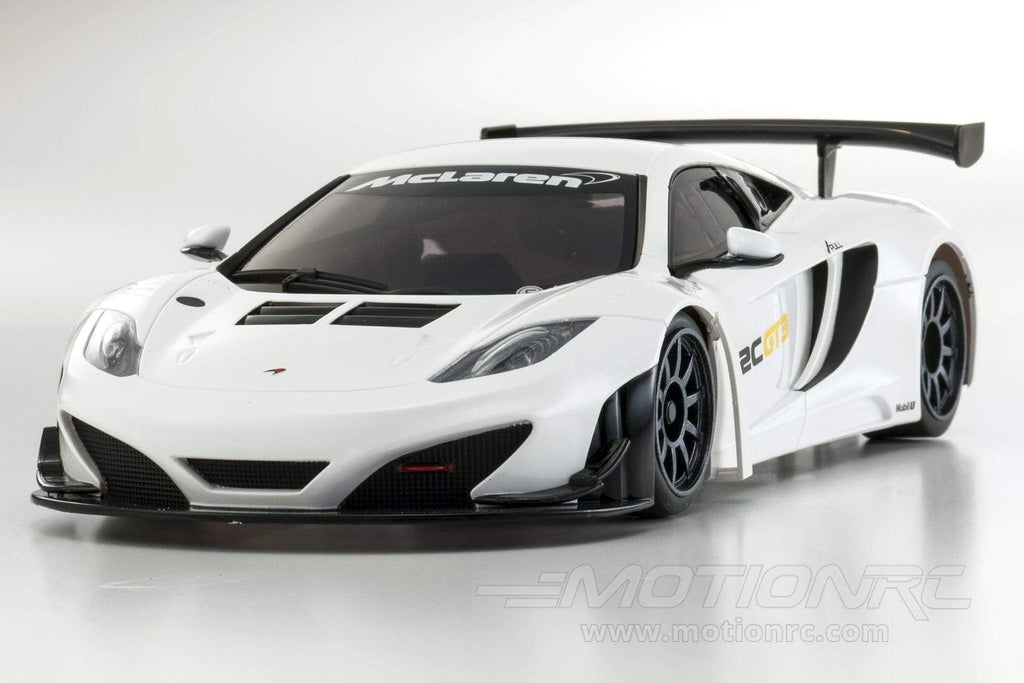 Kyosho Mini-Z McLaren 12C GT3 2013 White Readyset 1/10 Scale RWD Car - RTR 32325W-B