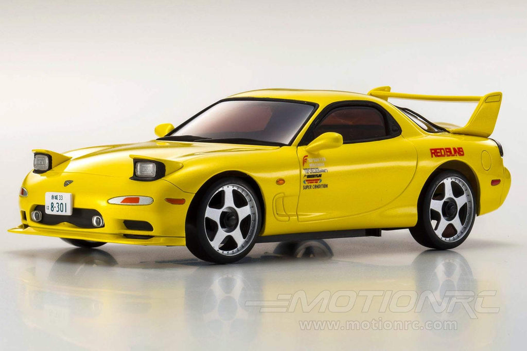 Kyosho Mini-Z RX-7 Mazda Yellow FD3S Readyset 1/27 Scale AWD Car - RTR KYO32612Y