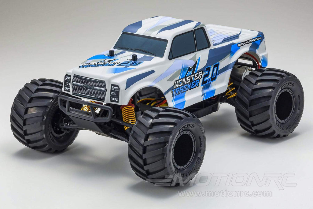 Kyosho Monster Tracker 2.0 Blue 1/10 Scale 4WD Truck - RTR KYO34404T1