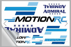 Motion RC Promotional Stickers 4x6 Sheet Clear Back MRCSTICKCLRMED