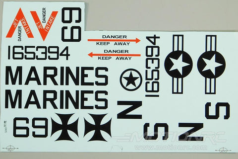 Roban 500 Size AH-1 Cobra Gray Decal Set RBN-SP-AC500-12