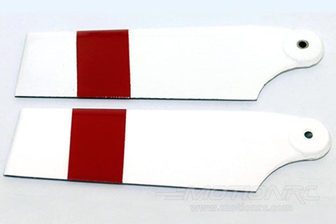 Roban 700/800 Size Airwolf and BE222 Tail Blade Set, 2B White/Red RBN-70-058-2B1