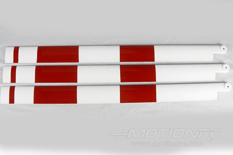 Roban 700/800 Size AS350 3B Main Blade Set, Red/White RBN-70-059-AS350
