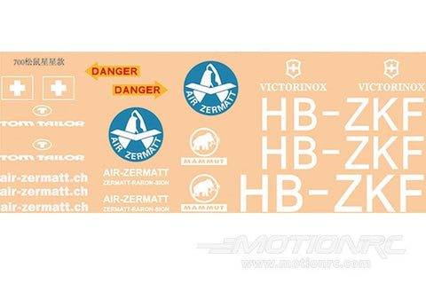 Roban 700 Size AS350 Air Zermatt Decal Set RBN-70-118-AS350