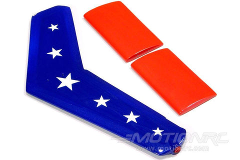 Roban 700 Size B206 Stars and Stripes Tail Fin Set RBN-SP-JR700-02SS