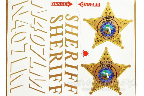 Roban 700 Size B407 Sheriff Decal Set RBN-70-118-B407SF