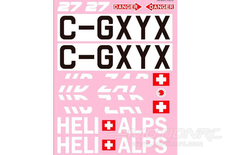 Roban 700 Size B429 Heli Alps Decal Set RBN-70-118-BE429-HA