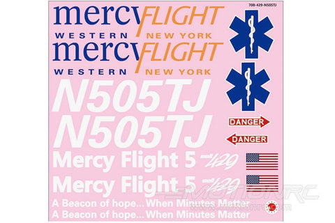 Roban 700 Size B429 Mercy Flight Decal Set RBN-70-118-BE429-MF