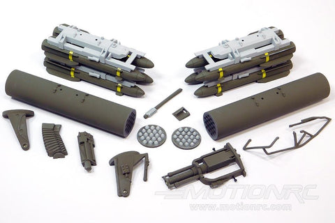 Roban 700 Size Grey AH-64 Apache Weapons Set RBN-70-111-AH64GR