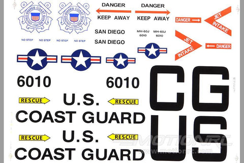 Roban 700 Size HH-60 Jayhawk Decal Set RBN-70-118-HH-60