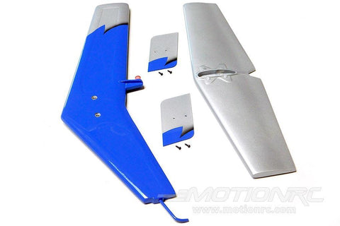 Roban 700 Size MD-500E G-Jive Blue Tail Fin Set RBN-SP-MD700-04GJB
