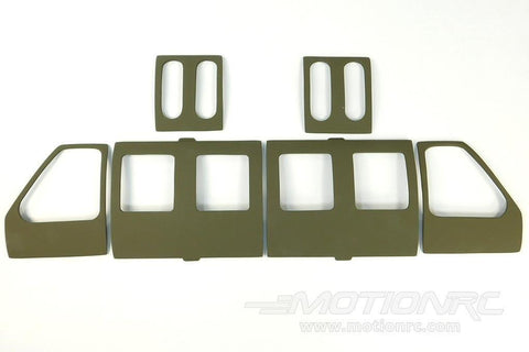 Roban 700 Size UH-60 Black Hawk Door Set RBN-70-116-UH-60