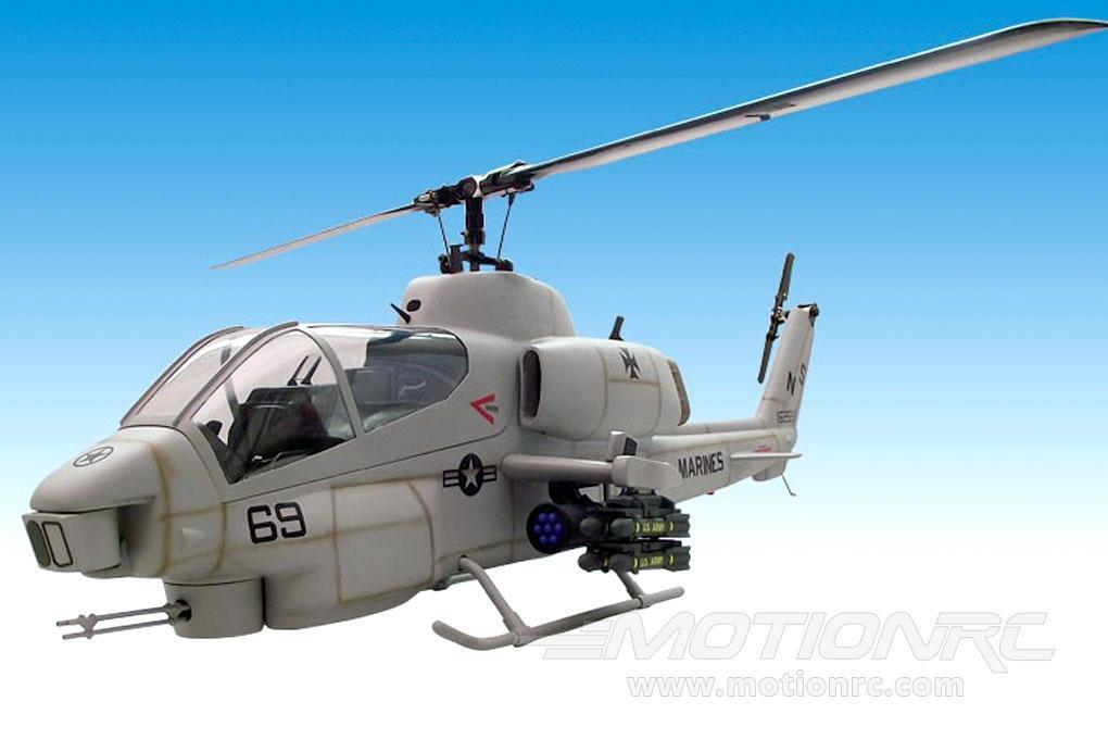 Roban AH-1 Cobra Gray 500 Size Helicopter Scale Conversion - KIT RBN-KFAH1DGR5