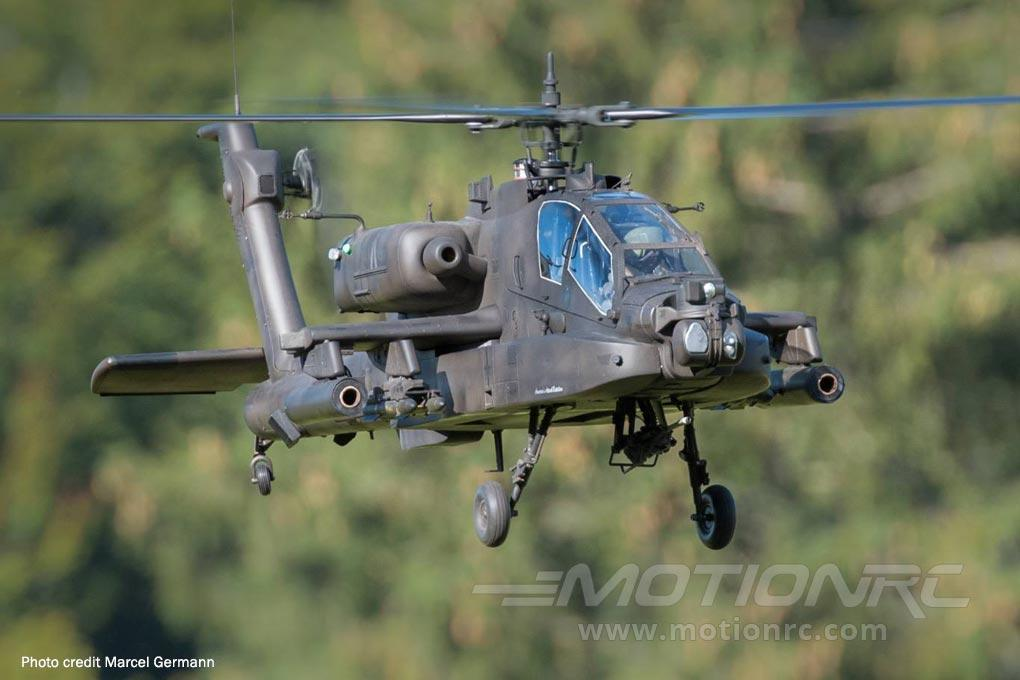 Roban AH-64 Apache Green 700 Size Scale Helicopter - ARF RBN-AH64-7S