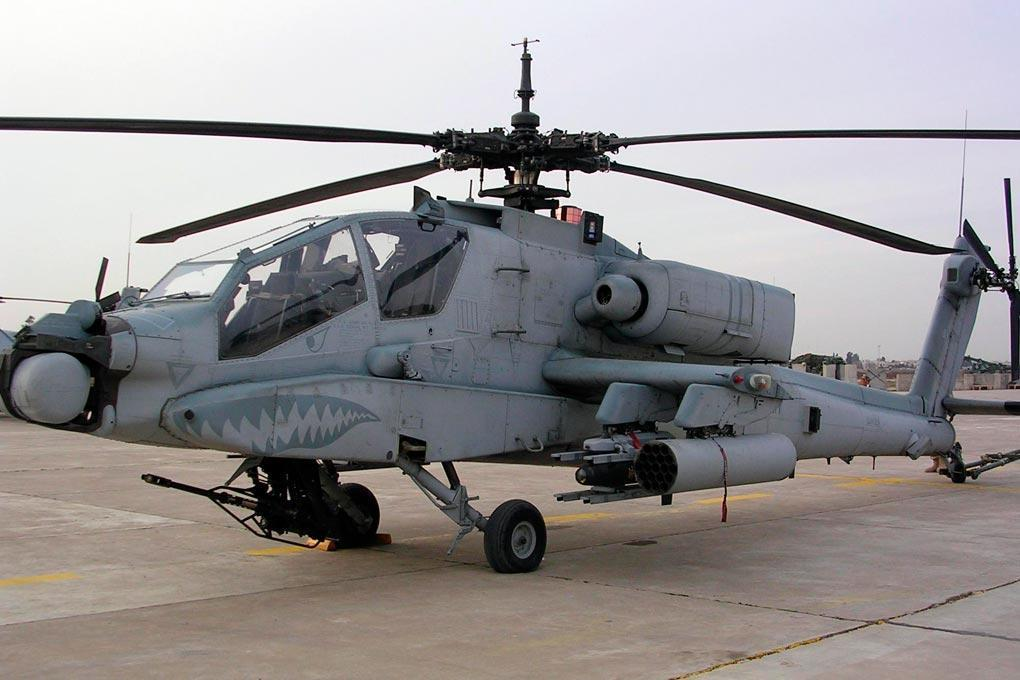 Roban AH-64 Apache Grey 700 Size Scale Helicopter - ARF RBN-AH64-7SG