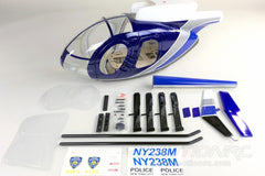Roban MD-500E Police Blue 600 Size Helicopter Scale Conversion - KIT RBN-KF-H500EPB6