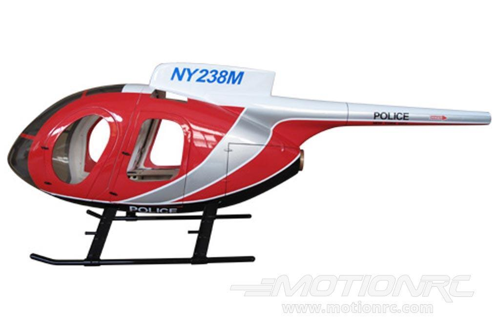 Roban MD-500E Police Red/White 600 Size Helicopter Scale Conversion - KIT Helicopter