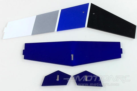 RotorScale MD500E Police Blue 450 Tail Fin Set RSH000101