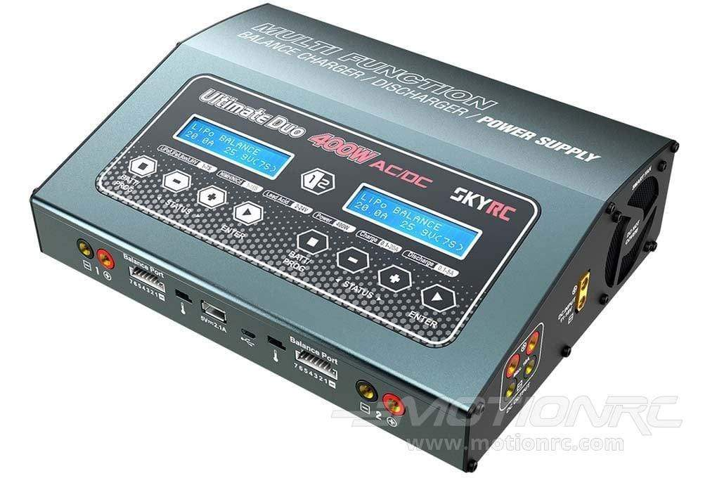 SkyRC D400 400W 7 Cell (7S) Ultimate AC/DC Dual LiPo Battery Charger - (OPEN BOX) SK-100123(OB)