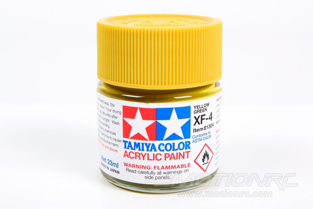 Tamiya Acrylic XF-4 Yellow Green 23ml Bottle TAM81304