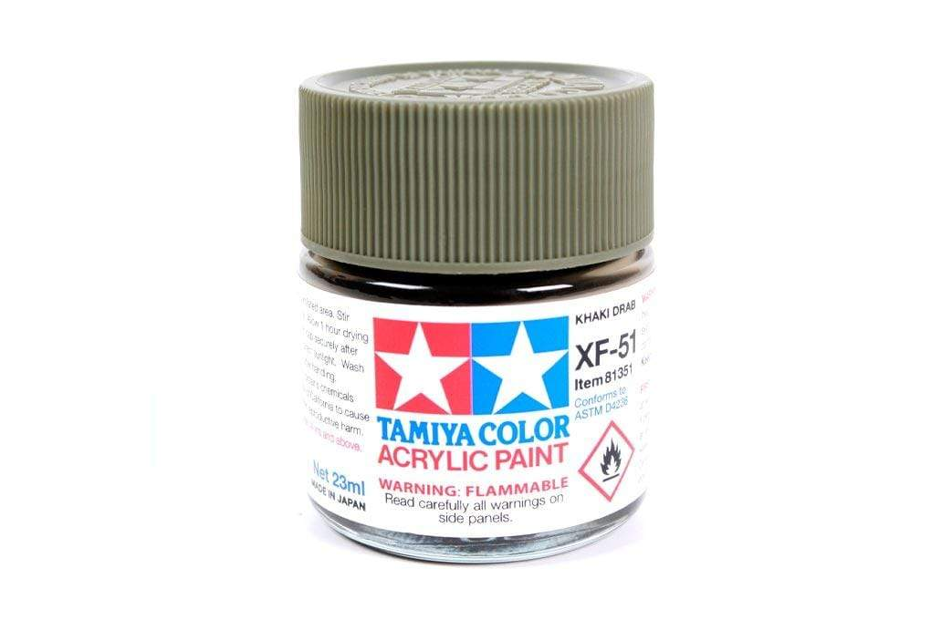 Tamiya Acrylic XF-51 Khaki Drab 23ml Bottle TAM81351