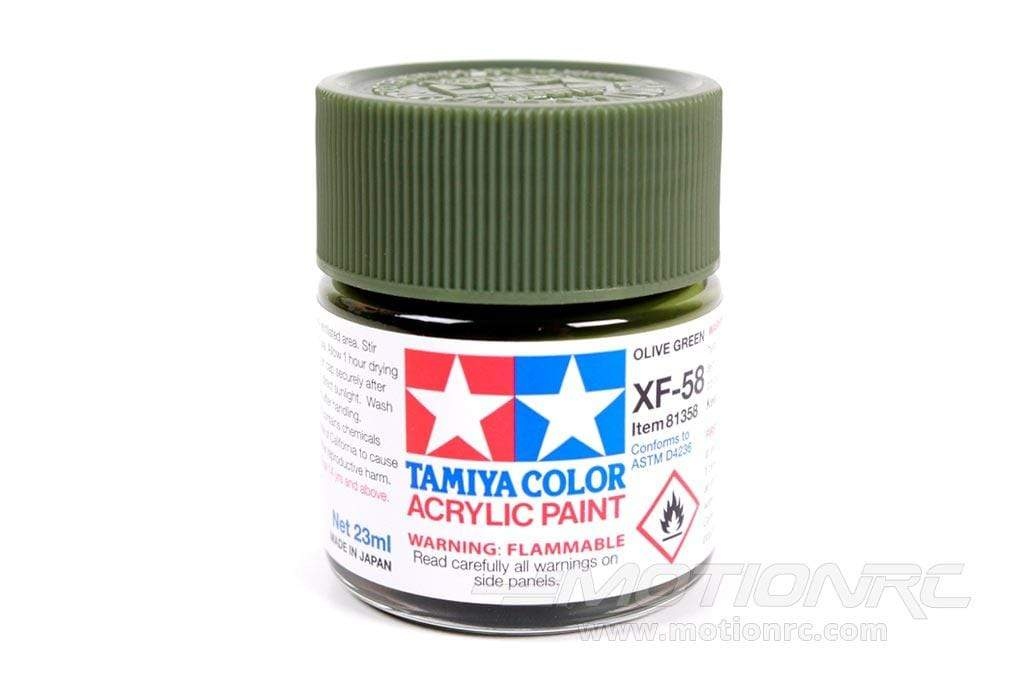 Tamiya Acrylic XF-58 Olive Green 23ml Bottle TAM81358