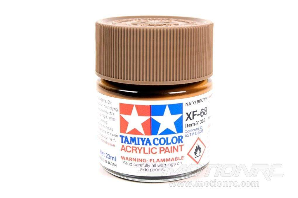 Tamiya Acrylic XF-68 NATO Brown 23ml Bottle TAM81368