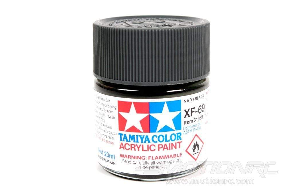 Tamiya Acrylic XF-69 NATO Black 23ml Bottle TAM81369
