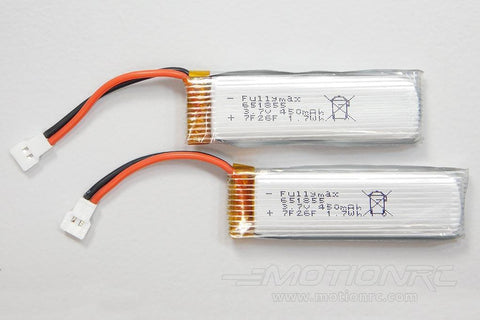 XK 450mAh 1S 3.7V 25C Battery (2 Pack) WLT-K110-005