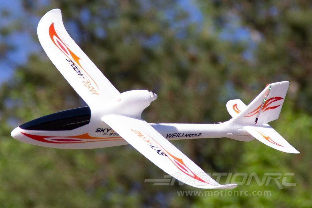 "XK Sky King Glider Red with LED Lights 750mm (29.5"") Wingspan - RTF WLT-F959-B-RED"