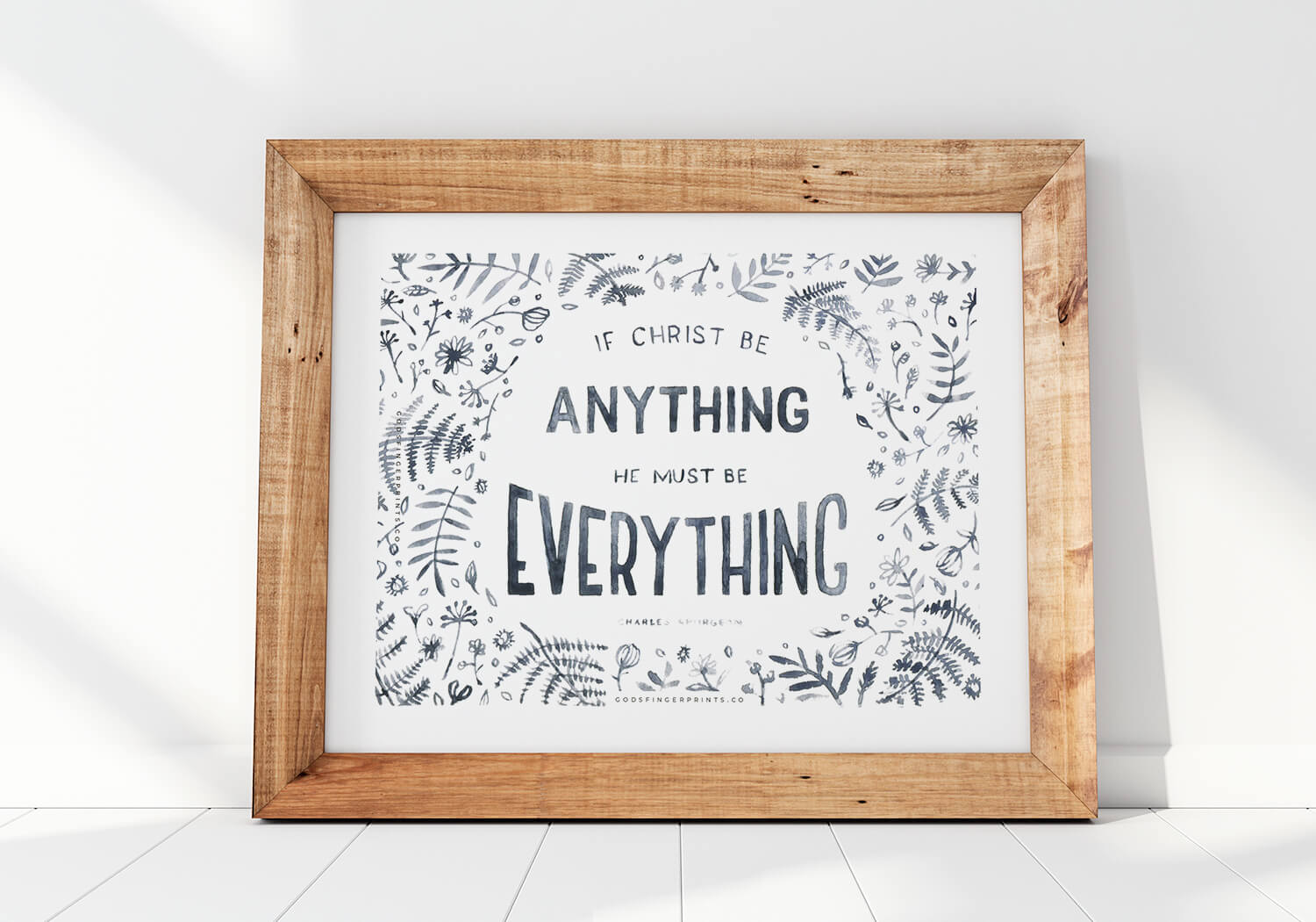 Christian Wall Art Spurgeon Quote Christ Everything Anything