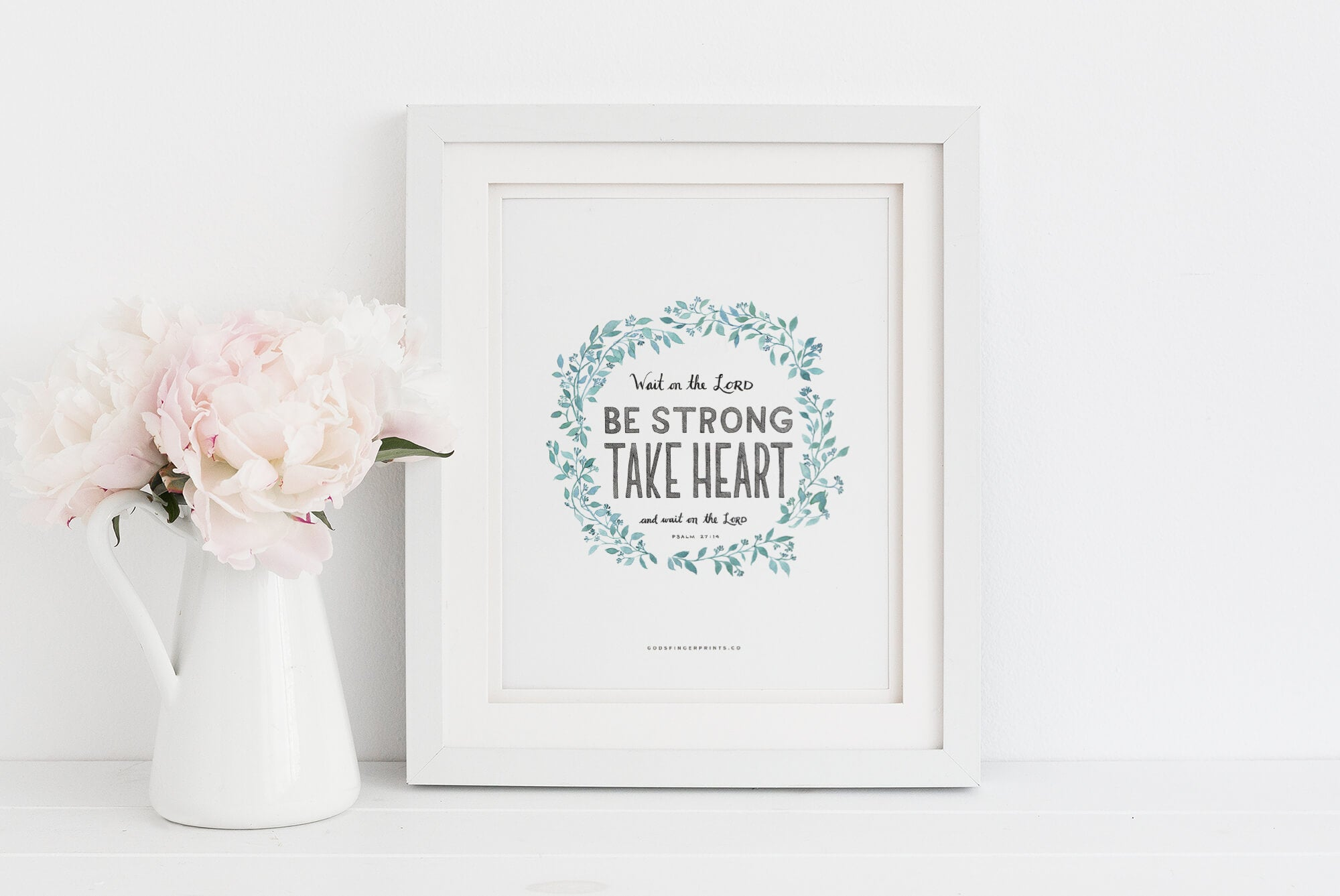 Wait on the LORD Christian Wall Art Framed