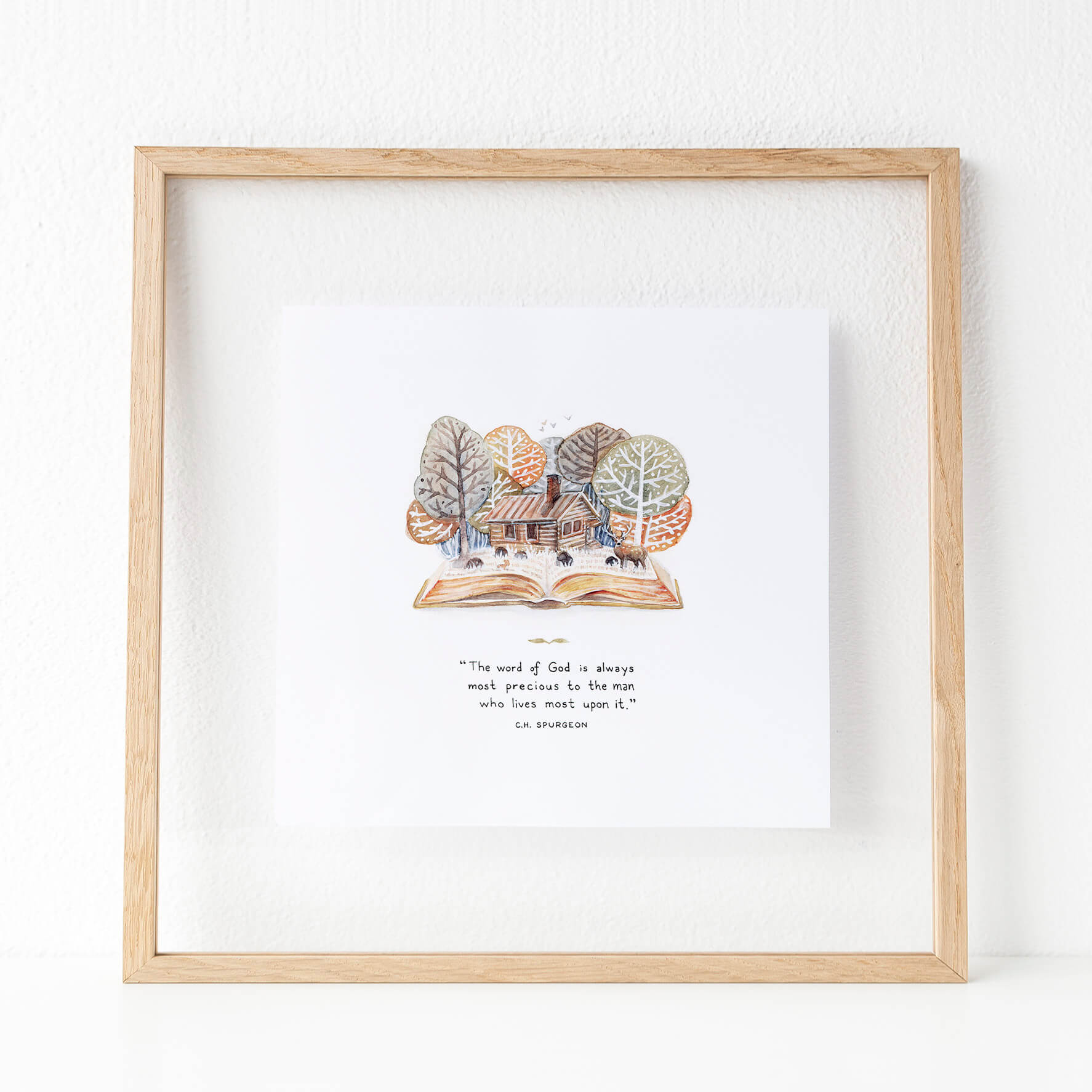 Framed Live Upon the Word Art Print | Charles Spurgeon Quote