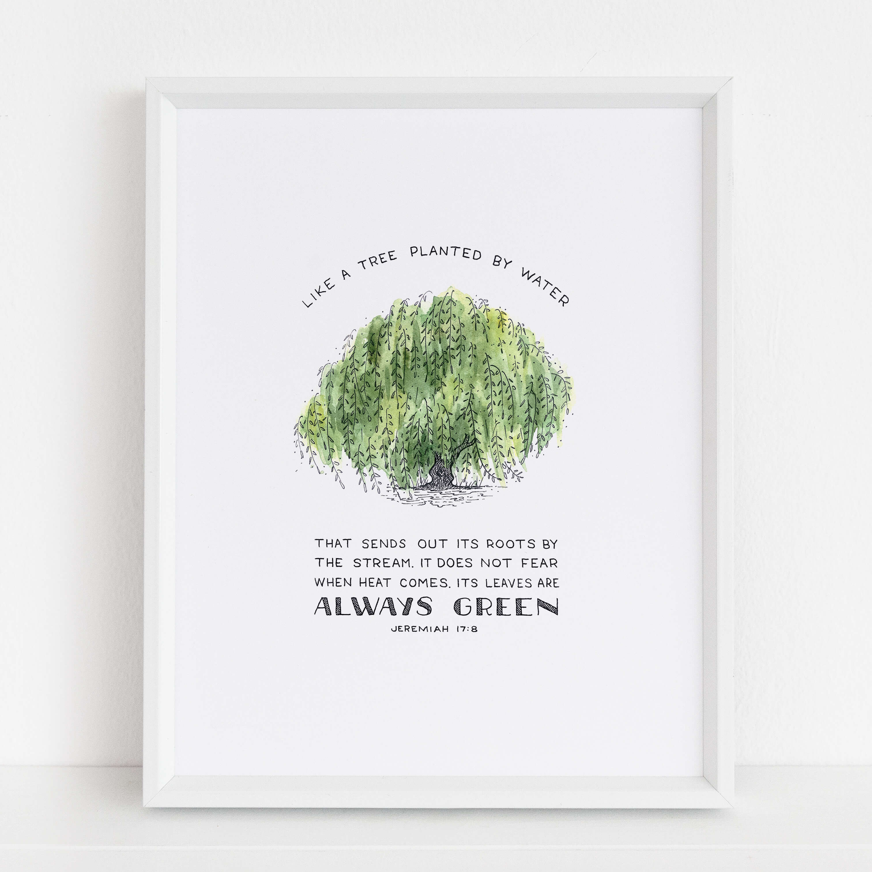 Framed Tree Planted by Water Art Print | Jeremiah 17:8