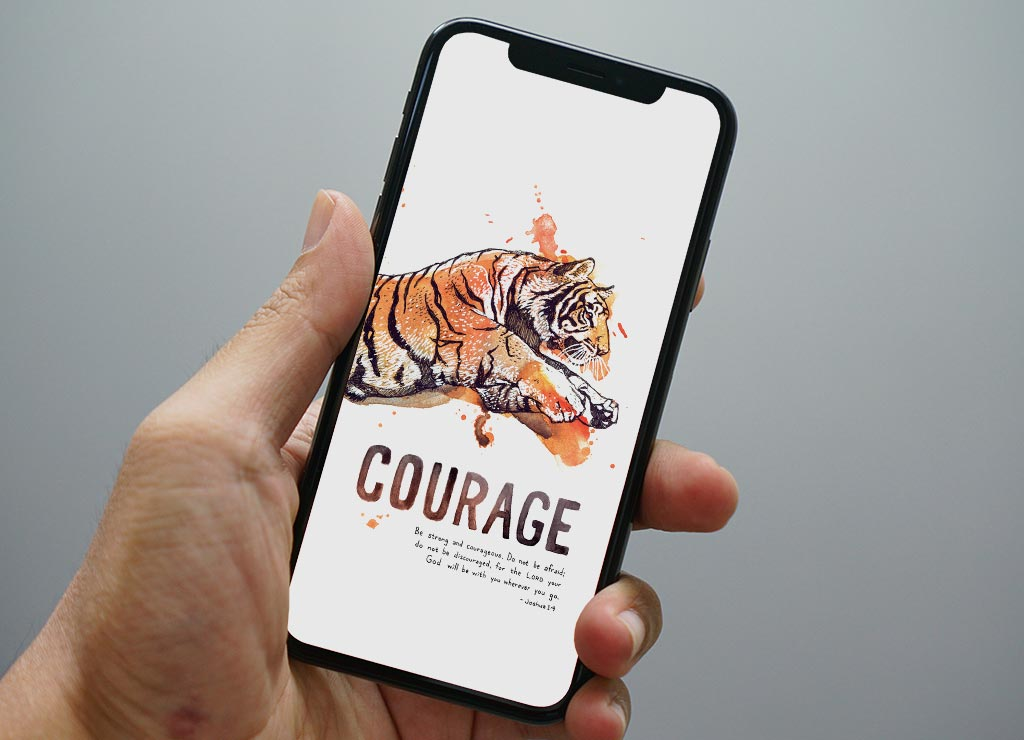 Christian Wallpaper Phone Background Courage Tiger