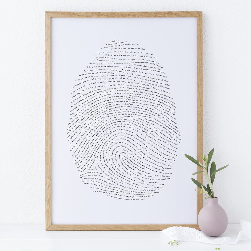 God's Fingerprint Artwork Scripture Art Bible Verse Christian Gift